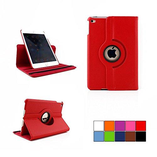 COOVY® Cover für Apple iPad mini 4 Retina ROTATION 360° SMART HÜLLE TASCHE ETUI CASE SCHUTZ STÄNDER | Farbe rot