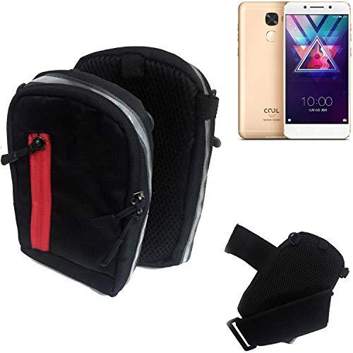 K-S-Trade Outdoor Gürteltasche Umhängetasche für Coolpad Cool S1 schwarz Handytasche Case travelbag Schutzhülle Handyhülle