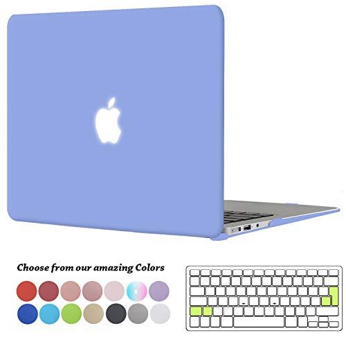 TECOOL MacBook Air 13 Zoll Hülle, Slim Case Plastik Hartschale Snap Cover mit Silicon Transparent Tastaturschutz Schutzhülle für Apple MacBook Air 13,3