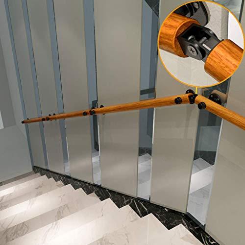 H.aetn Sicherheitshandläufe in Treppen Outdoor Indoor | Treppengeländer für behinderte, ältere Kinder im Treppenhaus innen oder außen | Holzgeländer (30-600cm)