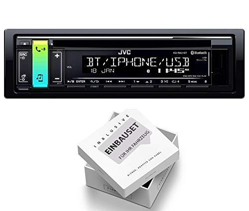 JVC KD-R891BT 1DIN Radio Bluetooth Spotify mit Einbauset für Jeep Grand Cherokee (ZJ) 1993-1998