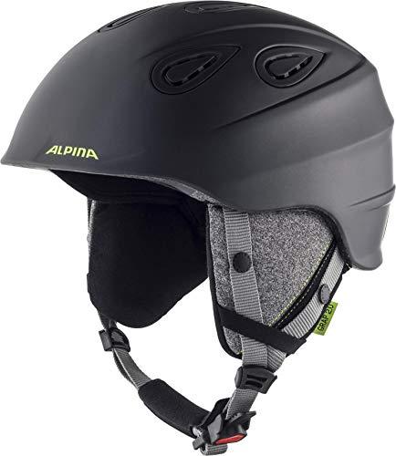 Alpina Grapp 2.0 Casque de Ski et de Snowboard pour Homme Charbon/Fluo Mat 57-61 cm