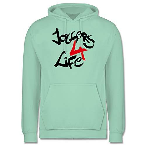 Statement Shirts - Joggers 4 Life - M - Mint - JH001 - Herren Hoodie -