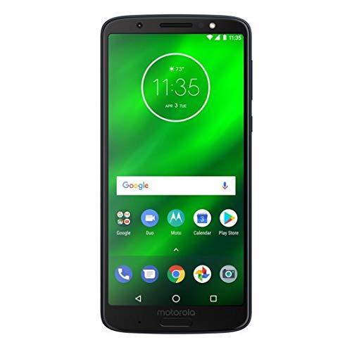 """Motorola Moto G6 Plus - Smartphone Libre DE 5.9"""" MAX Vision Full HD, 3.200 mAh de batería, Doble cámara DE 12 + 5 MP, 4 GB de RAM, procesador Snapdragon 630 DE 2.2 GHz, Color Azul"""