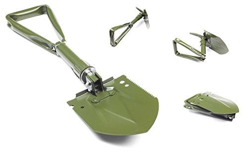 Multifonctions 3 parties Bundeswehr Pelle pliante avec sac original, Bêche feldspaten Housse 60 cm neuf