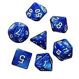 AchidistviQ 7-teiliges Würfel-Set für Dungeons Dragons Bar KTV Tischbrettspiel 7 Stück blau