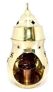 Odishabazar Brass Aroma Incense Burner Camphor Lamp Aroma Lamp Oil Burner Oil Diffuser