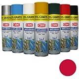 CRC - Spray Imprimación De Zinc Más Color En Un Sólo Producto. Antioxido Ral 3000 Rojo Fuego