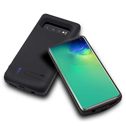 HQXHB Funda Batería para Samsung S10 Plus,6000mAh Funda Cargador Portatil  Batería Externa Ultra Carcasa Batería Recargable Power Bank Case para