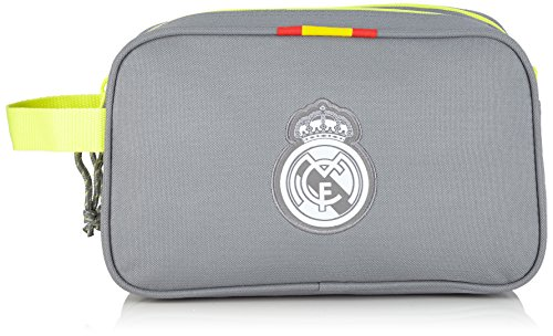Safta Real Madrid Neceser Doble Grande, Color Gris