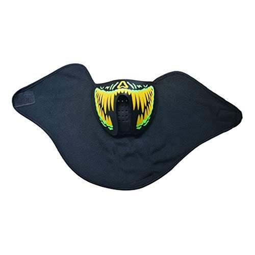 Nowear LED-Masken Kleidung Big Terror Masken Cold Light Helm Feuerfest-Party Glowing Tanz Stetig sprachaktivierte Musik-Maske (Erstaunliche Tanz Kostüm)