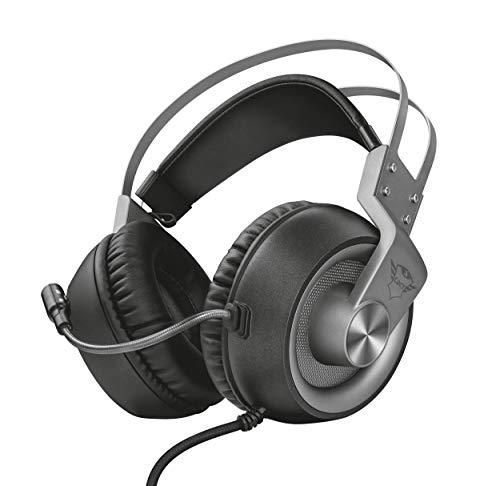 Trust GXT 4374 Ruptor Confortevoli Cuffie Gaming Over-Ear con Unità Altoparlante da 50 mm, Grigio