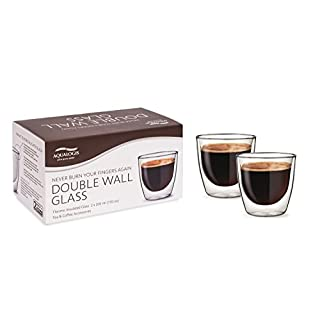 Aqualogis Double Wall Thermo insulated Glass - Coffee & Tea 200 ml, Set of 2