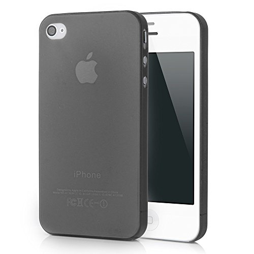 HOGO. iPhone 4/4s Ultra Slim Case - Schutzhülle - Mega Slim in Schwarz - Ultra dünne iPhone Hülle - Leicht transparentes iPhone Case - ultra thin - iPhone Cover
