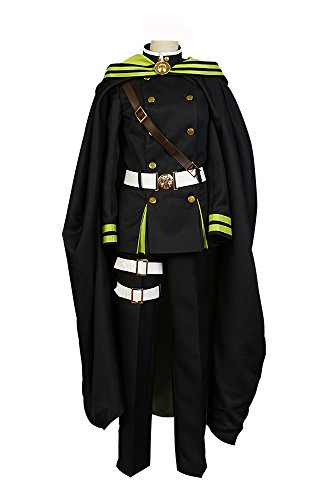 Yoichi Kostüm Saotome - Fuman Seraph of the End Yoichi Saotome Uniform Cosplay Kostüm Herren Schwarz L