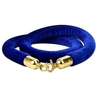 Yaekoo 149,9cm Samtseil für Warteschlangen, zur Kontrolle von großen Menschenmassen, blau, 0