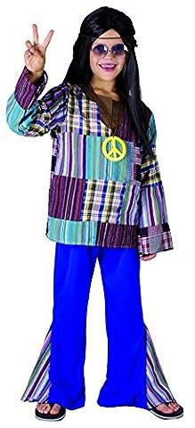 Rire Et Confetti - Fichip003 - Déguisement Pour Enfant - Costume Hippie - Garçon - Taille L
