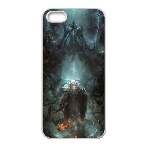 Diablo coque iPhone 5 5S Housse Blanc téléphone portable couverture de cas coque EBDXJKNBO09049