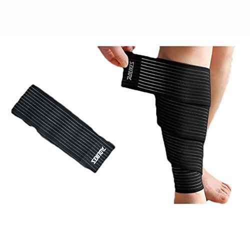livecity 1High Elastic Knieschoner Kneepad Nylon Bein Ellenbogenbandage vielseitig Sport Sicherheit Klebeband, schwarz
