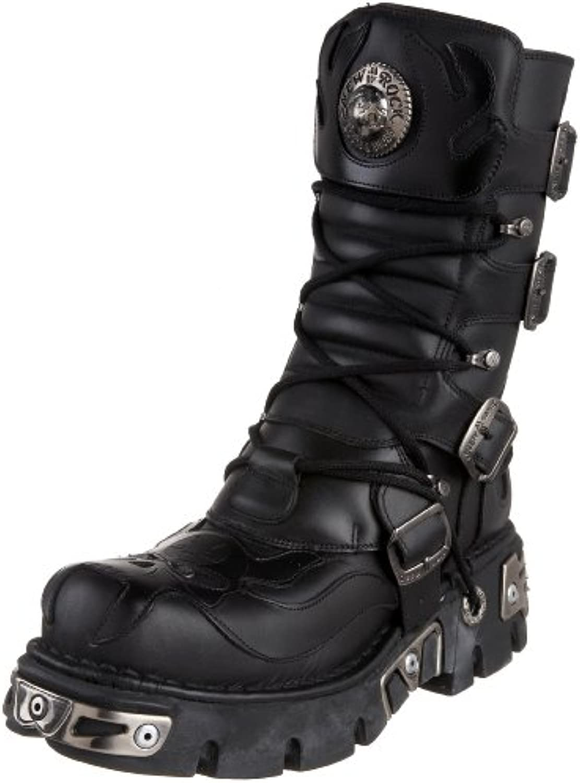 New Rock Black Leather M.107 S3 Women Metallic Ready Stock Metallic Available on 35 days Metallic Men