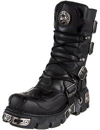 New Rock Boots @ Metal Schuhe @ Stiefel Rock @ Punk Goth @ Schwarz @ Black