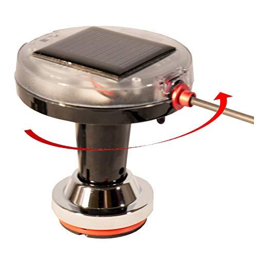BirdBoggle-Boots-Set, Möwenabwehr, solar Powered Bird Repeller, Mikroprozessor gesteuerter, elektromechanischer Rotor mit Standfuss und Reling-Klemme -