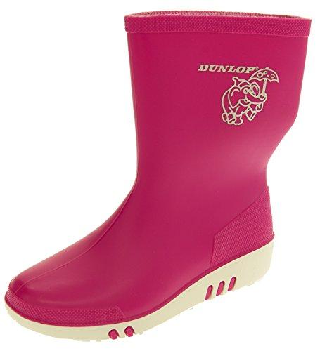Footwear Studio Dunlop Boys Girls Kids Rainy Day Elephant Waterproof Wellington Boots