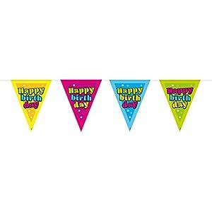 Folat 65337 Happy Birthday - Cuerda con diseño de Estrellas (10 m)