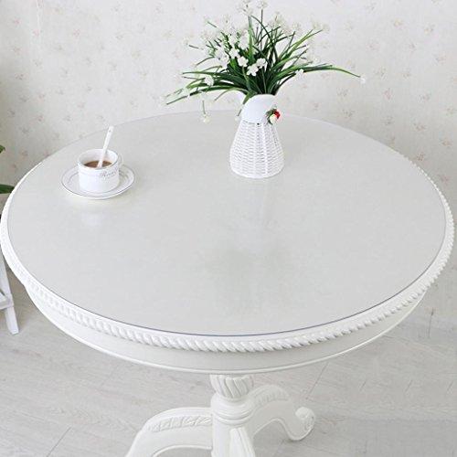 Tovaglia rotonda in vetro pvc tonda, tappetino anti-caldo impermeabile da tavolo, tappetino da tavolo rotondo di plastica in cristallo , #1 , diameter 120cm