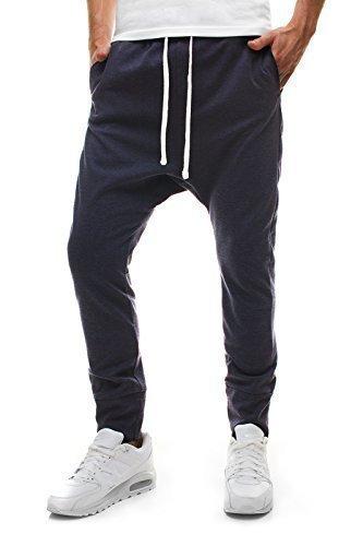 OZONEE Herren Sporthose Jogginghose Baggy Slim-Fit JACK BERRY 1008 DUNKELBLAU L