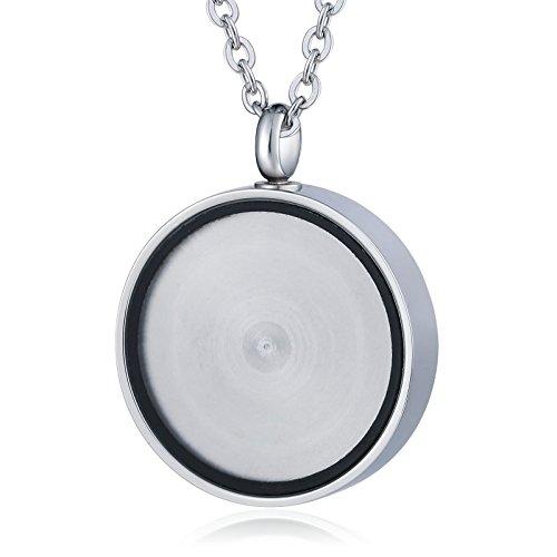 Anyeda Damenkette Unendlichkeit Rosegold Edelstahl Glatter Kreis Silbereltern Halskette Keepsake -
