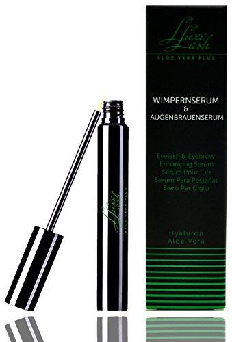 Wimpernserum & Augenbrauenserum 4 ml. Luxe Lash Aloe Vera+ I Schnelleres Wimpernwachstum für lange Wimpern I Zur Verlängerung der Wimpern...
