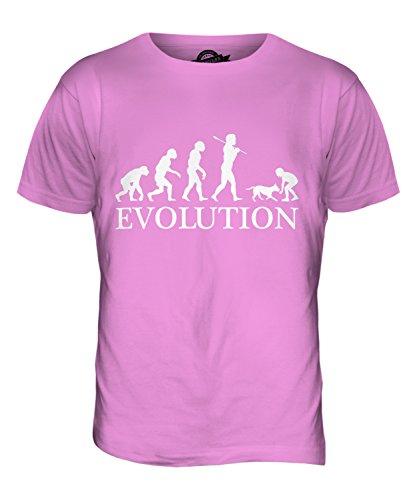 CandyMix Mädchen Mit Hund Evolution Des Menschen Herren T Shirt Rosa