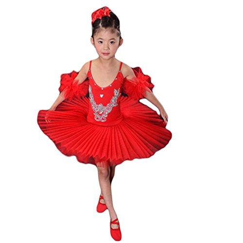 Kleinkind -Kind-Riemen-Ballettrock / Schwanensee Kostüme / Ballett-Kleid (Kinder Schwanensee Kostüm)