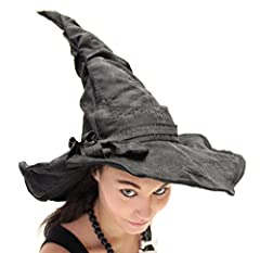 Idea Regalo - Foxxeo 35007Malleable Deluxe Witches Hat with Patches