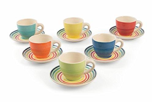 Galileo Casa Rainbow Juego Café, Stoneware, 6Unidad