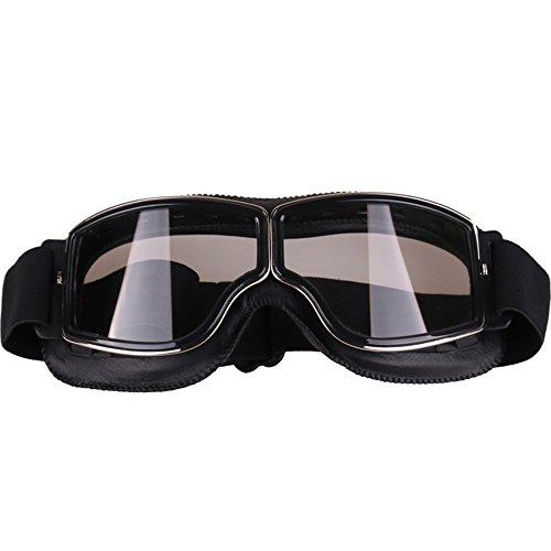Walmeck Radsportbrillen Motorrad Brille Retro Style Vintage Helm Schutzbrille Fahrradbrillen für Outdoor-Sportarten Racing Brille