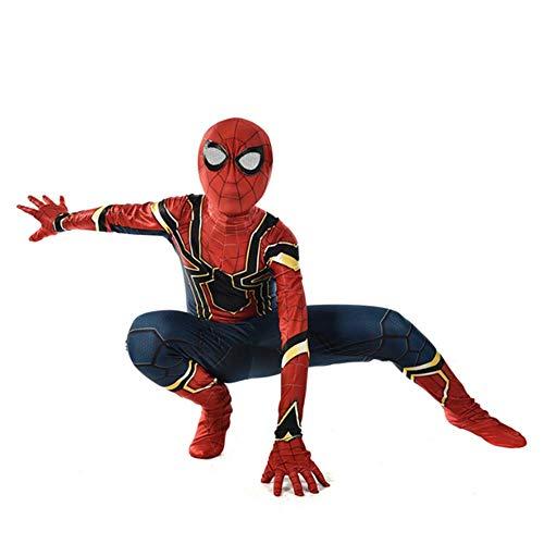 ZHANGQI Unisex Erwachsene Kinder The Avengers Superheld Spiderman Trikot Return War Spider Warfare Kostüm Rollenspiel Kleidung,Child-M (Mary Jane Kostüm Von Spider Mann)