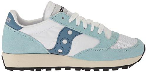 Saucony Jazz Original Vintage Wht/Blu S60368-25, Sneaker Donna Multicolore (White/blue S70368-25)