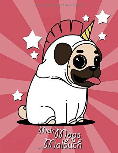 Fee Tier Kostüm - Mein Mops Malbuch: Hunde Notizbuch | Reisetagebuch | Skizzenbuch | Zeichenbuch |100 blanko Seiten | 1 Seite für den Namen | Datum Feld | A4+