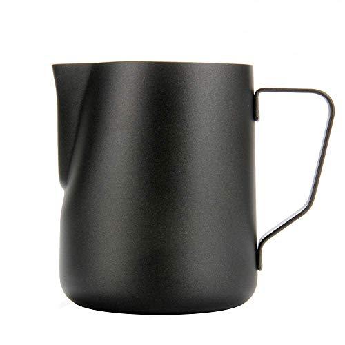 KANGLE Café Leche Espumoso Lanzador, Acero Inoxidable Crema Macchiato Cappuccino Latte Hacer Tazas De Jarras Familia Y Amigos,350Ml