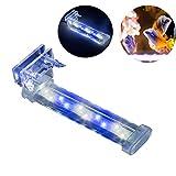 DJLOOKK LED Aquarium Beleuchtung Kristall Aquarium Lichterstand Aquarium Beleuchtung Aqua LED Kleines Cliplicht Wasser Gras Licht Mini Energiesparende Aquarium Clip-Licht