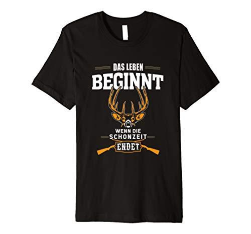 Jäger Schonzeit Jagd T-Shirt I Jagen Hobby Geschenk