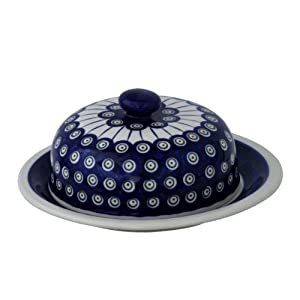 Original Boleslawiec Large Cheese Cover in the Decor 8 – GU-889/8