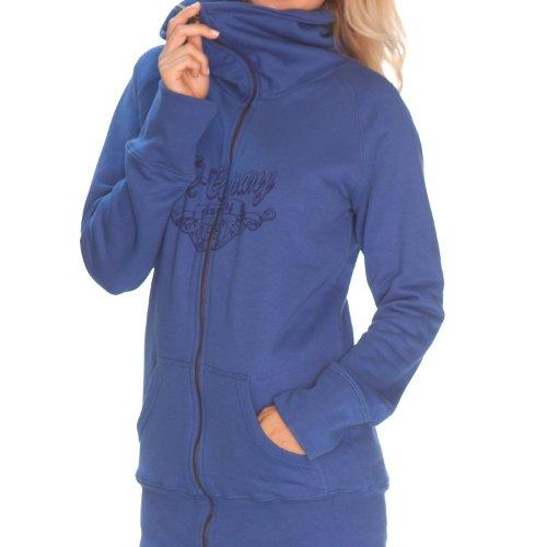 iQ-Company Damen Jacke Long Jean Medhufinolhu blue