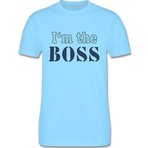 Statement Shirts - I'm the Boss - wie aufgenäht - Herren Premium T-