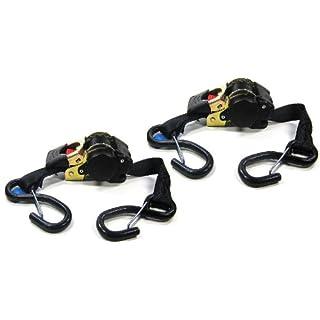 Paar (2Stk) Automatik Spanngurt selbstaufwickelnd Zurrgurt mit Aufrollautomatik Automatik Ratschenspanngurt Ratsche Gurt Ratschengurte 1,85m 600kg Umreifung EN 12195-2, iapyx® (P)