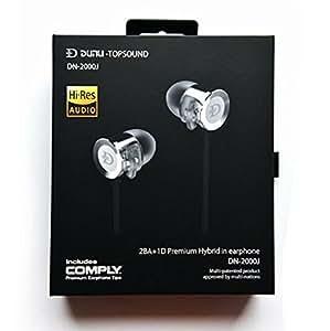 Dunu DN-2000J High-Resolution Frequency Response Triple Driver Hybrid IEM Earphones