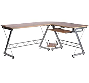 Bureau d 39 angle pour ordinateur meuble informatique table for Meuble d angle ordinateur