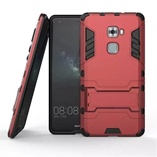 Apanphy Huawei Mate S Hülle , Dual Layer Kratzfeste Tasche Schutzhülle mit Ständer für Huawei Mate S case cover, Rot
